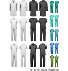 Set of medical clothes Design template vector
