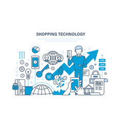 Shopping technology financial security payment vector