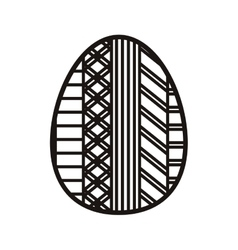 Silhouette easter egg design with figure geometric vector