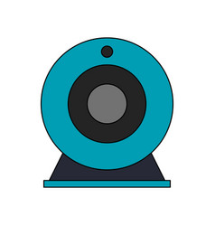 single webcam icon image vector image
