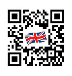 Smartphone readable qr code united kingdom vector