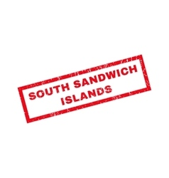 South Sandwich Islands Rubber Stamp vector