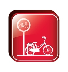 square button bicycle parking area vector image