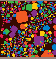 square rainbow colorful geometrical abstract vector image