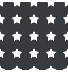 Straight black star pattern vector image
