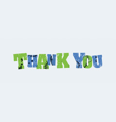 Thank you concept stamped word art vector