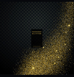 Transparent golden glitter background vector