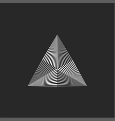 Triangle logo geometric shape thin lines hipster vector