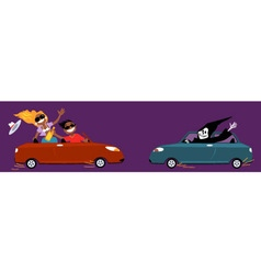 Unsafe driving vector image