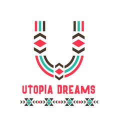 Utopia dreams logo vector