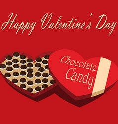 Valentines Day box of chocolate candy red vector image