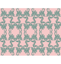 Vintage Retro floral ornament pattern vector image