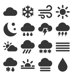 weather icons set on white background vector image
