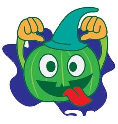 Wizard Pumpkin vector image