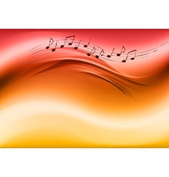 abstract music red vector image vector image