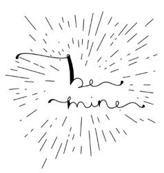 be mine - original custom hand lettering vector image
