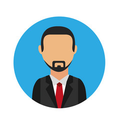 businessman character isolated icon vector image