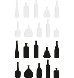cartoon set of wine bottles vector image vector image