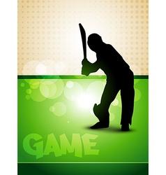Cricket game vector