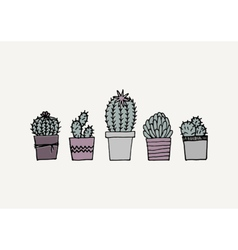 Hand Drawn Cactus Poster vector image vector image
