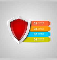 infographics shield protection concept data vector image vector image