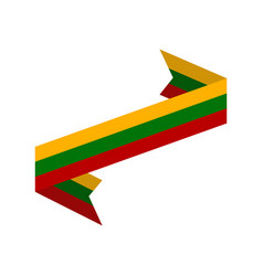 lithuania flag ribbon isolated lithuanian ribbon vector image vector image