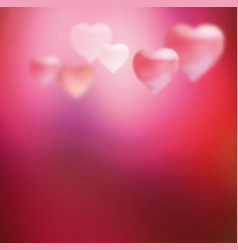 pink blurred heart vector image vector image