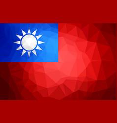 taiwan polygon flag vector image vector image