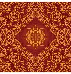 Decorative rosette arabesque seamless pattern vector