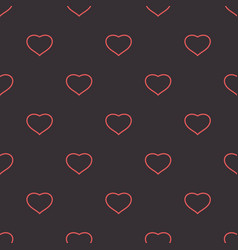 hearts dark tender background seamless pattern vector image
