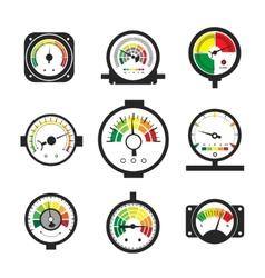 Manometer set pressure gauge and measurement vector image