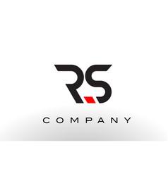 rs logo letter design vector image