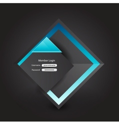 business login page vector image vector image