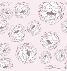 hand drawn linen peony flower vector image