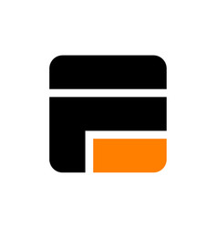 modern logo solution letter e f f e vector image vector image