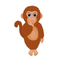 shaggy little monkey vector image