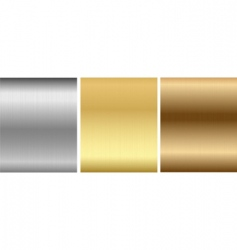 aluminum bronze brass stitched textures vector image vector image