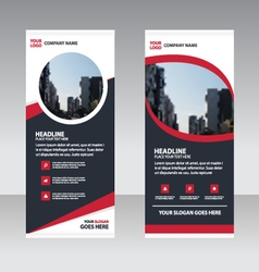 Curve Business Roll Up Banner flat design template vector image vector image
