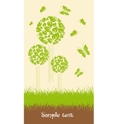 Ecological trees vector image vector image