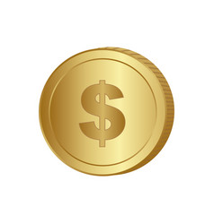 gold coin sign icon vector image