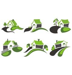 House symbols vector image vector image