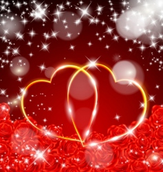 Valentine's day postcard vector image vector image