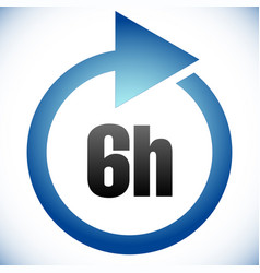6h turnaround time tat icon interval for vector