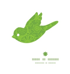 Abstract green and white circles bird silhouette vector