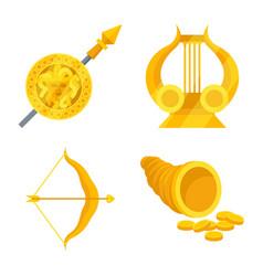 Attributes and greek symbol vector