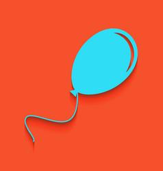 Balloon sign whitish icon on vector