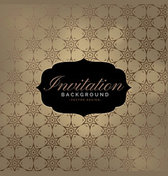 beautiful invitation background with pattern vector image