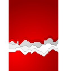 Bright red contrast background vector