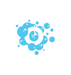 bubble with initial letter o graphic design vector image