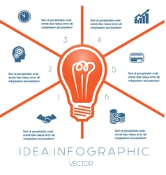 Business concept light bulb infographic 6 vector